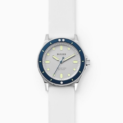 Picture of Skagen Fisk Three-Hand White Silicone Watch