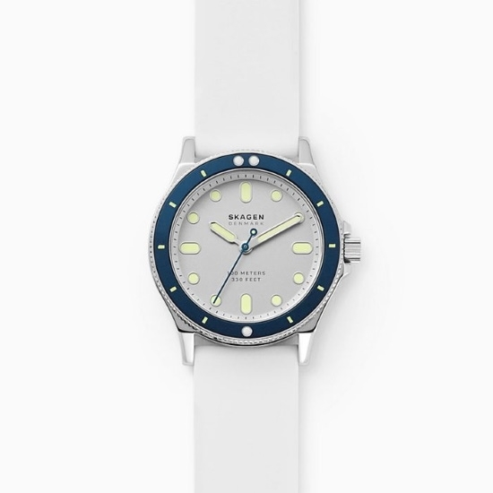 Picture of Skagen Fisk Three-Hand White Silicone Watch