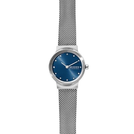 Picture of Skagen Freja Two-Hand Silver-Tone Steel-Mesh Watch