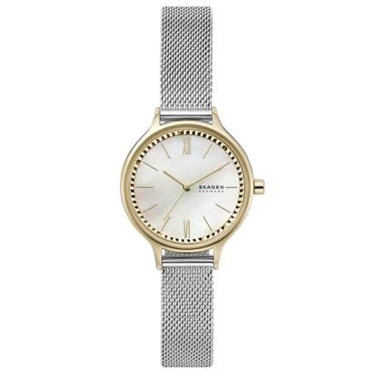 Picture of Skagen Anita 3-Hand Silver-Tone Steel-Mesh Watch