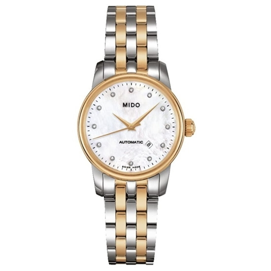 Picture of MIDO Baroncelli Auto Diamond-Accent Two-Tone Steel Watch