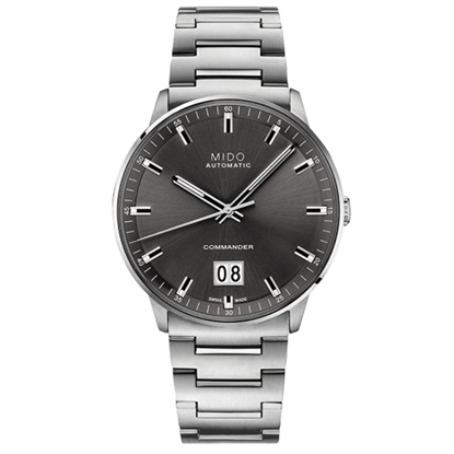 Picture of MIDO Commander Big Date Steel Watch with Black Dial