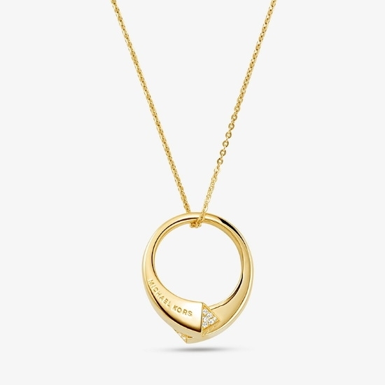 Picture of Michael Kors Gold-Tone Sterling Silver Statement Pendant