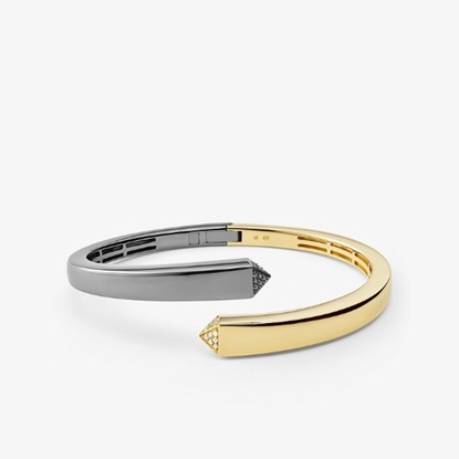 Picture of Michael Kors Two-Tone Sterling Silver Bangle Bracelet