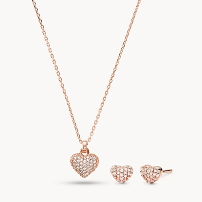 Picture of Michael Kors Rose Gold-Tone Sterling Silver Necklace Box Set