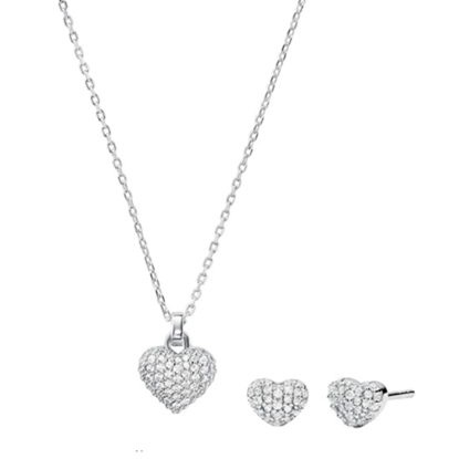 Picture of Michael Kors Sterling Silver Necklace Box Set