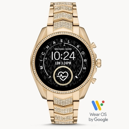 Picture of Michael Kors Gen 5 Bradshaw Gold-Tone Pave Smartwatch
