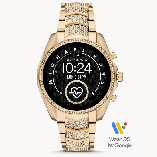 Picture of Michael Kors Gen 5 Bradshaw Gold-Tone Pave Smartwatch