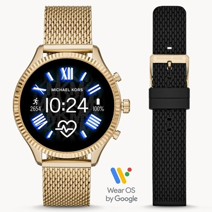 Picture of Michael Kors Gen 5 Lexington Smartwatch - Gold-Tone Mesh