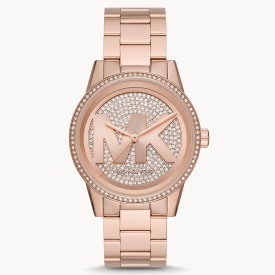 Picture of Michael Kors Ritz Three-Hand Rose Gold-Tone Steel Watch
