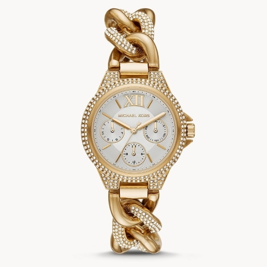 Picture of Michael Kors Camille Multifunction Gold-Tone Steel Watch
