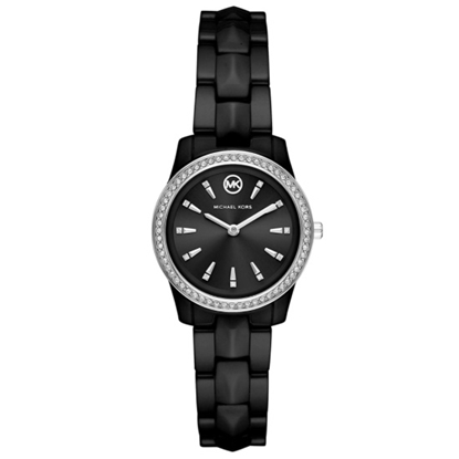 Picture of Michael Kors Runway Mercer Three-Hand Black Ceramic Watch