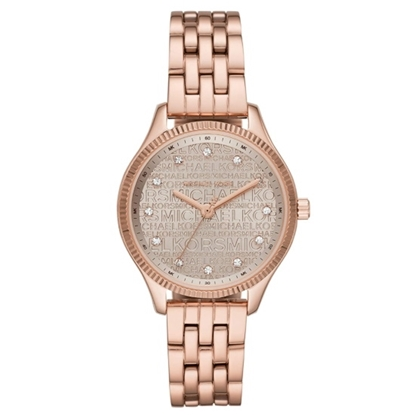 Picture of Michael Kors Lexington Three-Hand Rose Gold-Tone Watch