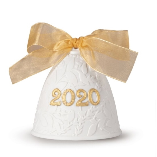 Picture of Lladro Christmas Bell 2020 - Golden Luster