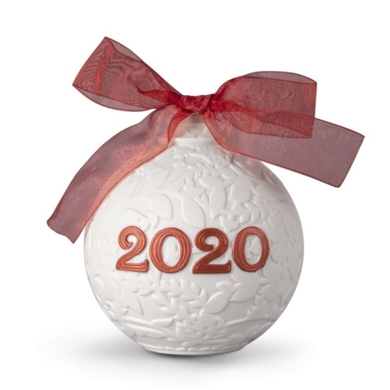 Picture of Lladro Christmas Ball 2020 - Red
