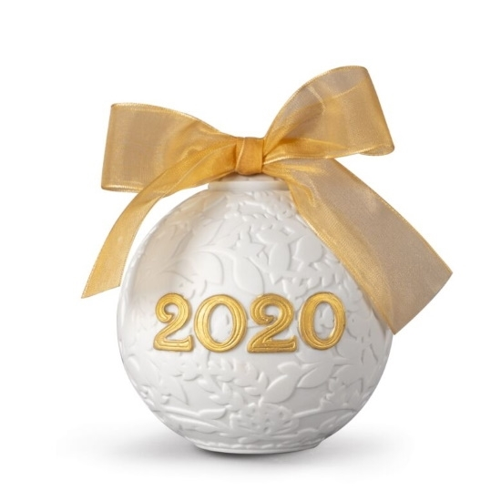 Picture of Lladro Christmas Ball 2020 - Golden Luster