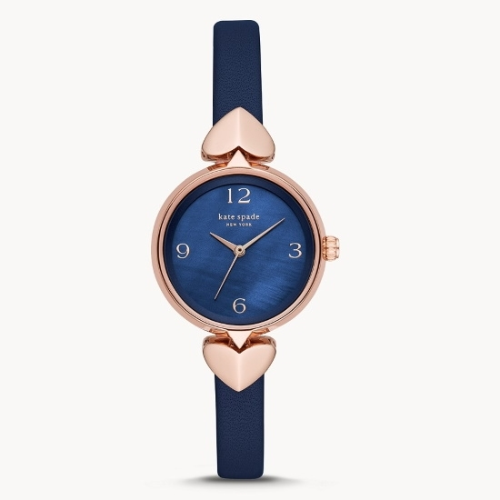 Picture of Kate Spade Hollis 3-Hand Navy Leather Watch