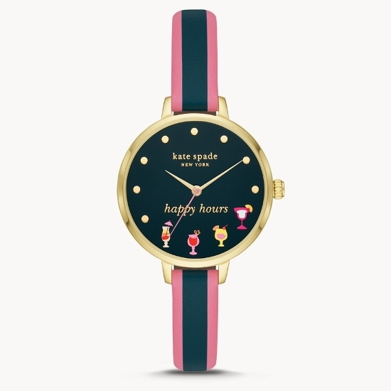 Picture of Kate Spade Metro Three-Hand Multicolored Leather Watch