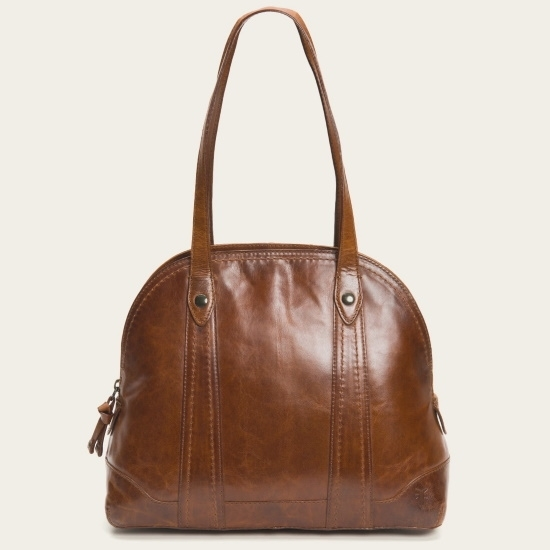 Picture of Frye Melissa Domed Satchel - Cognac