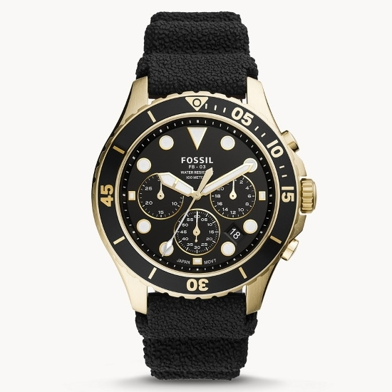 Picture of Fossil FB-03 Chronograph Black Silicone Watch