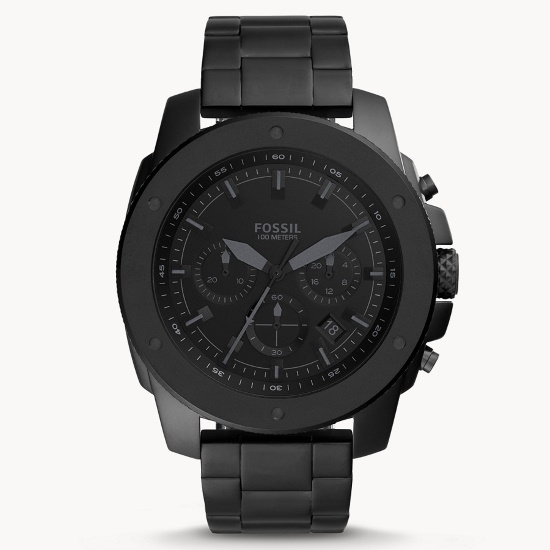 Picture of Fossil Mega Machine Black Stainless Steel Chrono Watch