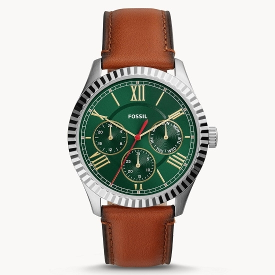 Picture of Fossil Chapman Multifunction Watch with Luggage Leather Strap
