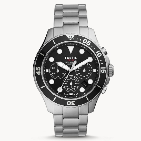 Picture of Fossil FB-03 Stainless Steel Chrono Watch with Black Dial