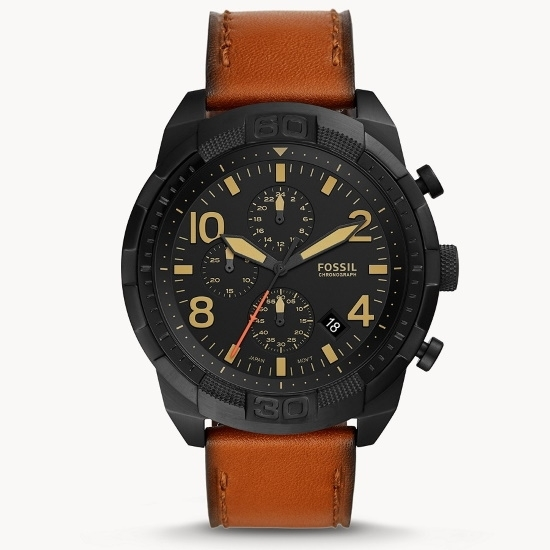 Picture of Fossil Bronson Chrono Watch with Luggage Leather Strap