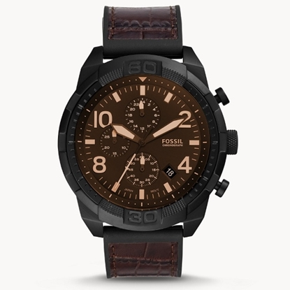 Picture of Fossil Bronson Chrono Watch with Brown Croco Leather Strap