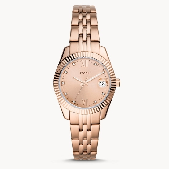 Picture of Fossil Scarlette Mini 3-Hand Rose Gold-Tone Steel Watch