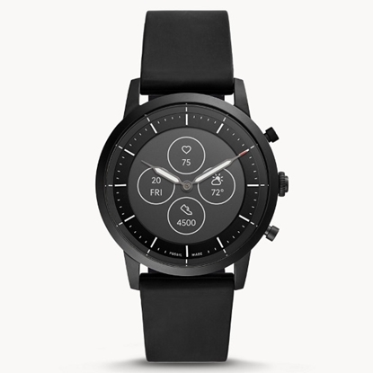 Picture of Fossil Hybrid Smartwatch HR Collider - Black Silicone