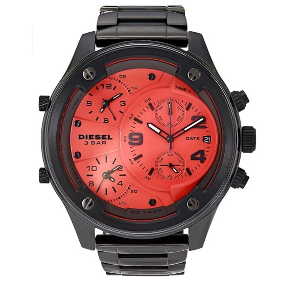 Picture of Diesel Boltdown Chrono Gunmetal-Tone Stainless Steel Watch