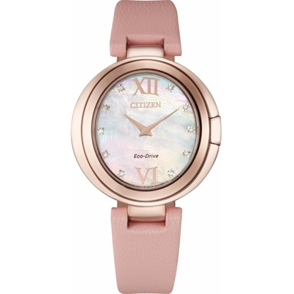 Picture of Citizen Ladies' Capella Watch with Pink Leather Strap