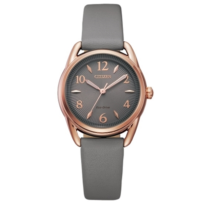 Picture of Citizen Ladies' Drive Watch with Grey Leather Strap
