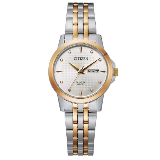 Picture of Citizen Ladies' Quartz Two-Tone Watch with White Dial