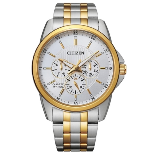 Picture of Citizen Quartz Two-Tone Watch with White Dial