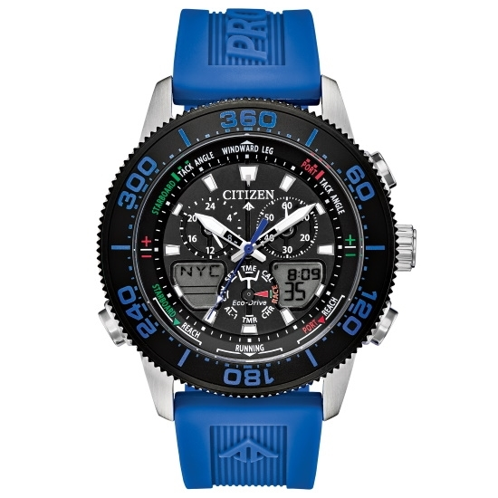 Picture of Citizen Promaster Sailhawk with Blue Rubber Strap