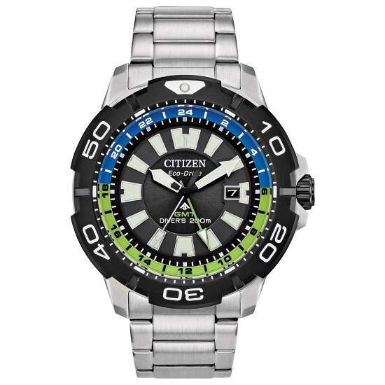 Picture of Citizen Promaster GMT Steel Watch with Black/Blue/Green Dial