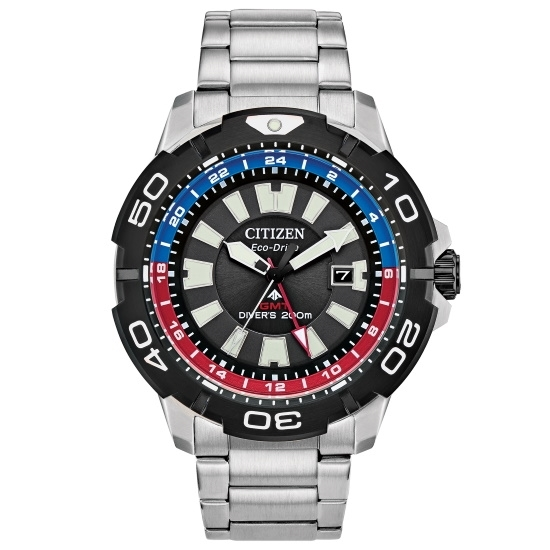 Picture of Citizen Promaster GMT Stainless Steel Watch w/ Multicolor Dial