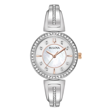 Picture of Bulova Bangle Crystal Watch Set with Necklace