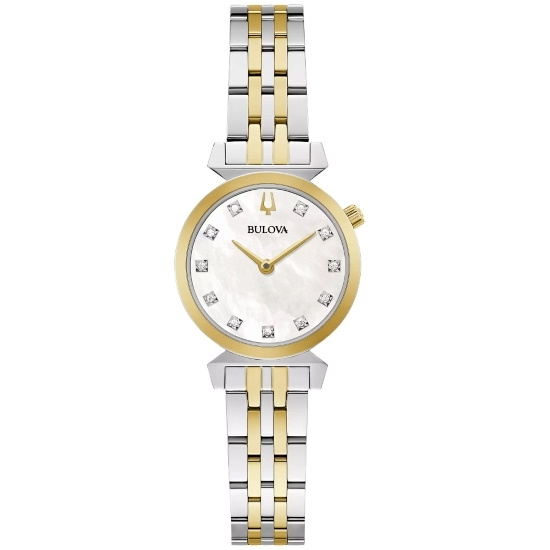 Picture of Bulova Classic Regatta Two-Tone Watch with MOP & Diamond Dial