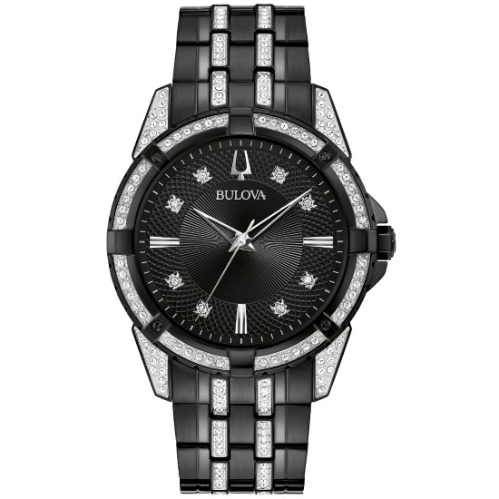 Picture of Bulova Men's Crystal Watch Set with ID Bracelet