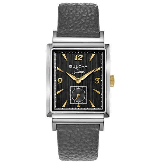 Picture of Bulova Frank Sinatra My Way Watch with Grey Leather Strap
