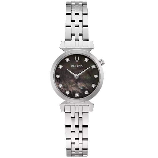 Picture of Bulova Classic Regatta Stainless Steel Watch with Black Dial