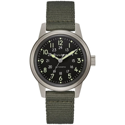 Picture of Bulova Military HACK Watch with Black Dial