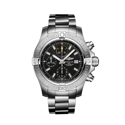Picture of Breitling Avenger Chrono 45 Steel Watch with Black Dial