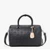 Picture of MCM Essential Mono Leather Boston 30 - Black