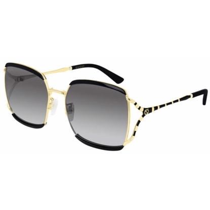 Picture of Gucci Ladies' Large Square Sunglasses - Black/Gold