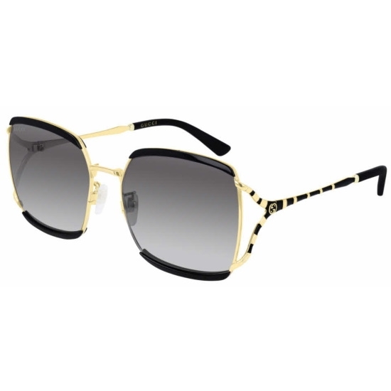 Picture of Gucci Ladies' Large Square Sunglasses - Black/Gold