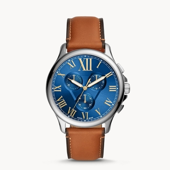 Picture of Fossil Monty Chronograph Luggage Leather Watch